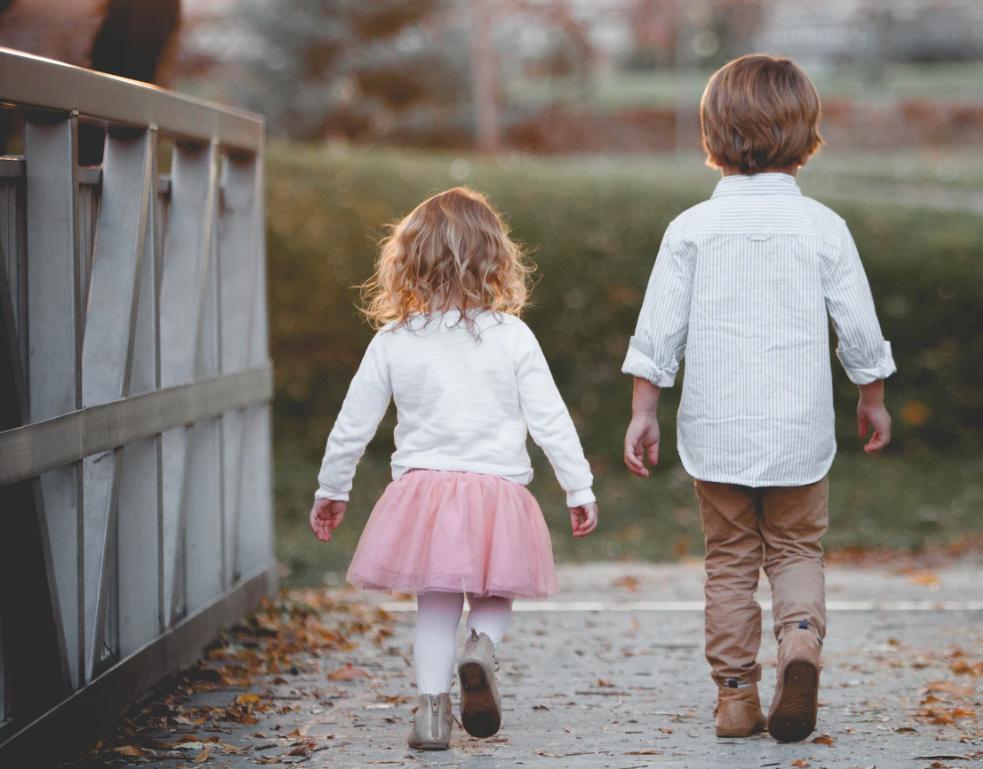 bro & sister walk
