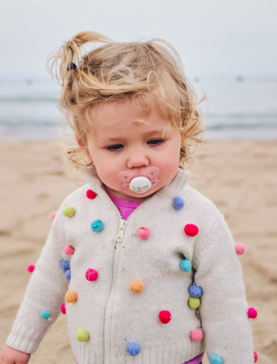 Infant with pacifier